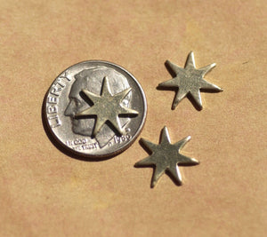 Nickel Silver Fireworks Blank 7 pointed Star for Soldering or Stamping - Jewelry Supplies by SupplyDiva
