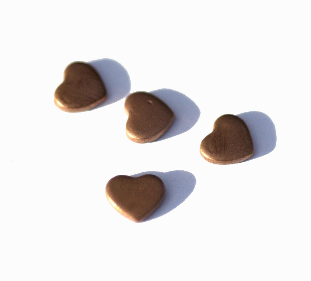 Copper Heart Classic 6mm x 5mm Heart Blanks Cutout for Enameling Stamping Texturing Variety of Metals