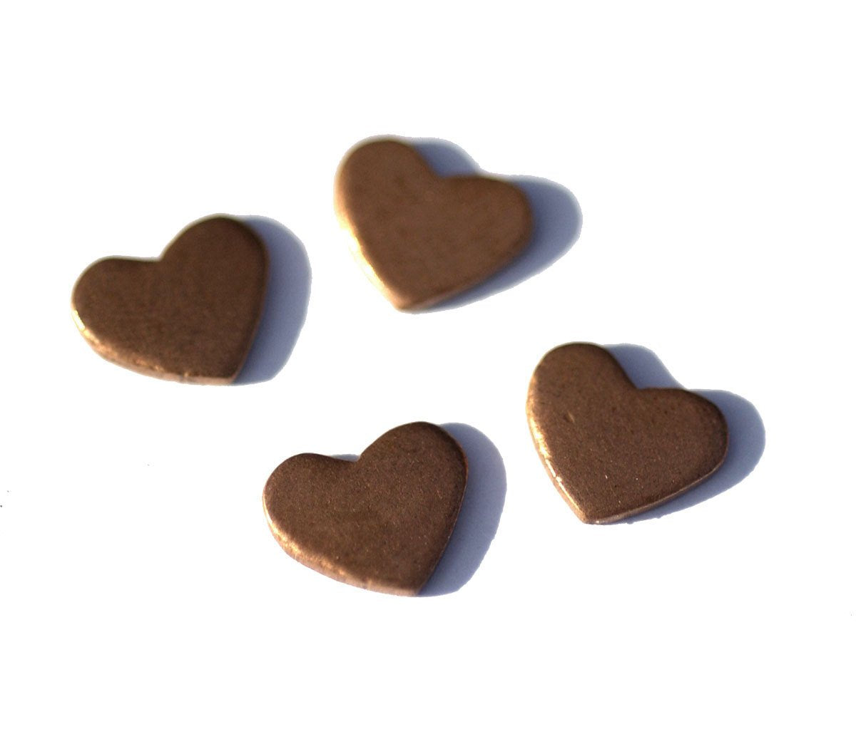 Copper Classic Heart II 9mm x 7mm 20g Cutout for Enameling Stamping Texturing