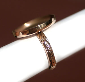 Copper Ring Round Bezel Cup Ring for Resin Gluing or Setting  - Size 3 3/4