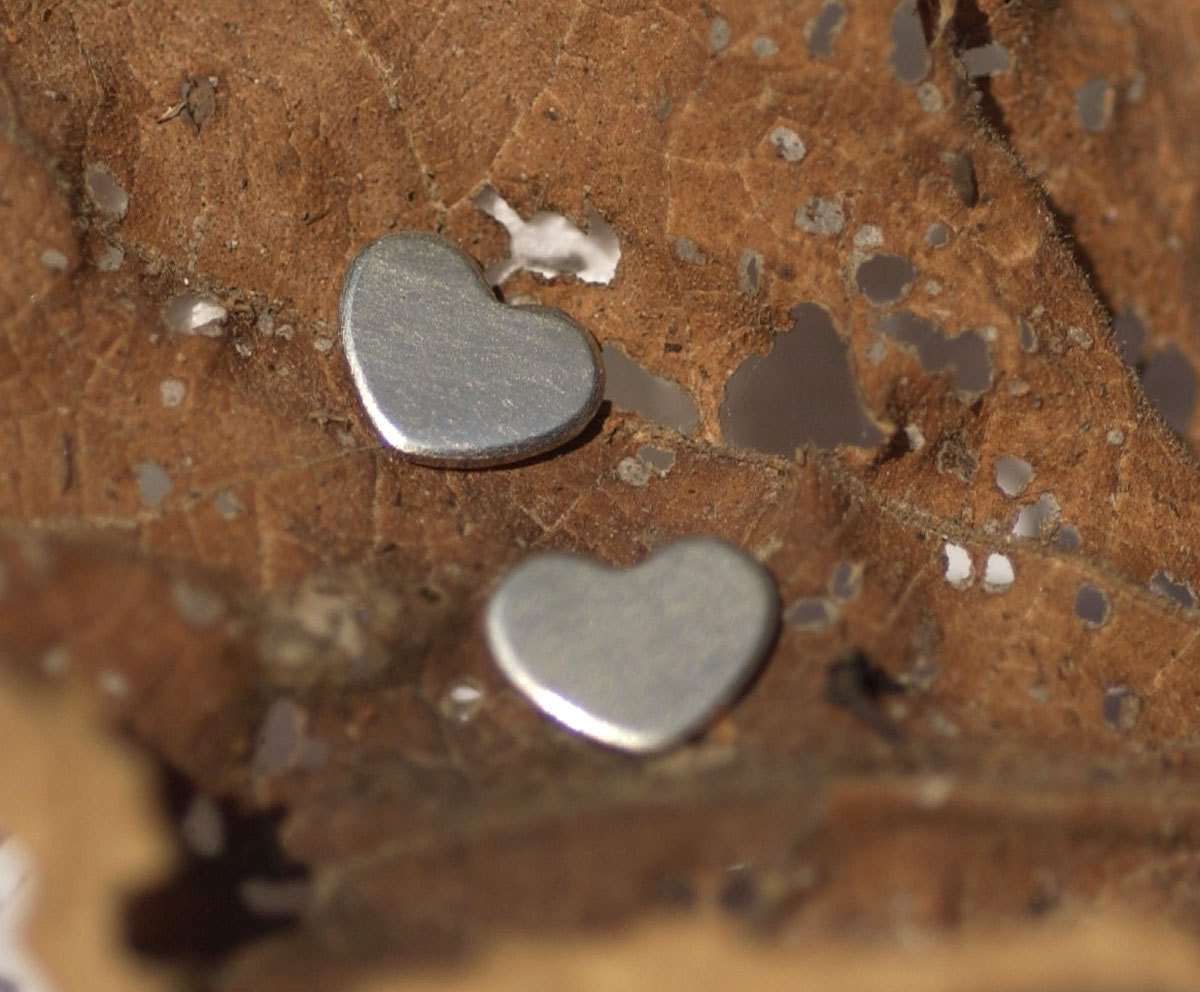Nickel Silver Chubby Heart Metal Blanks Shape Charms Cutout for Metalworking Soldering Stamping Blank