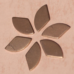 Copper Rounded Triangles Blank 18.9mm x 9.3mm for Enameling Stamping Texturing Soldering Blanks