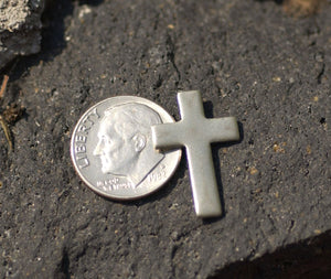Buy Nickel Silver Religious Cross 21mm x 14mm Metal Blanks Shape Form online