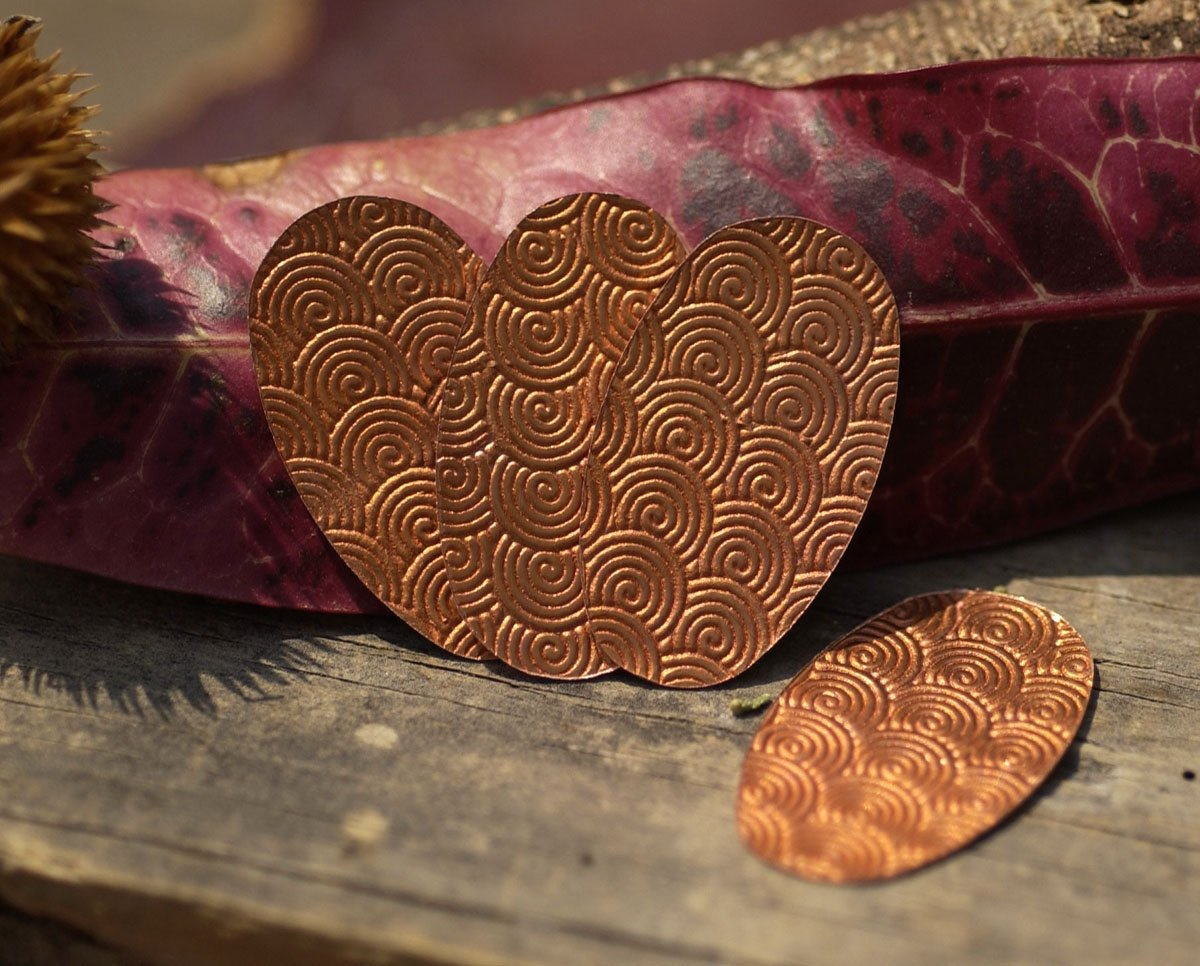 Spiral Texture Copper Oval 26g 36 x 21mm Shape Charms Cutout Blank for Enameling Solderin Pendant  Earrings Jewelry Making