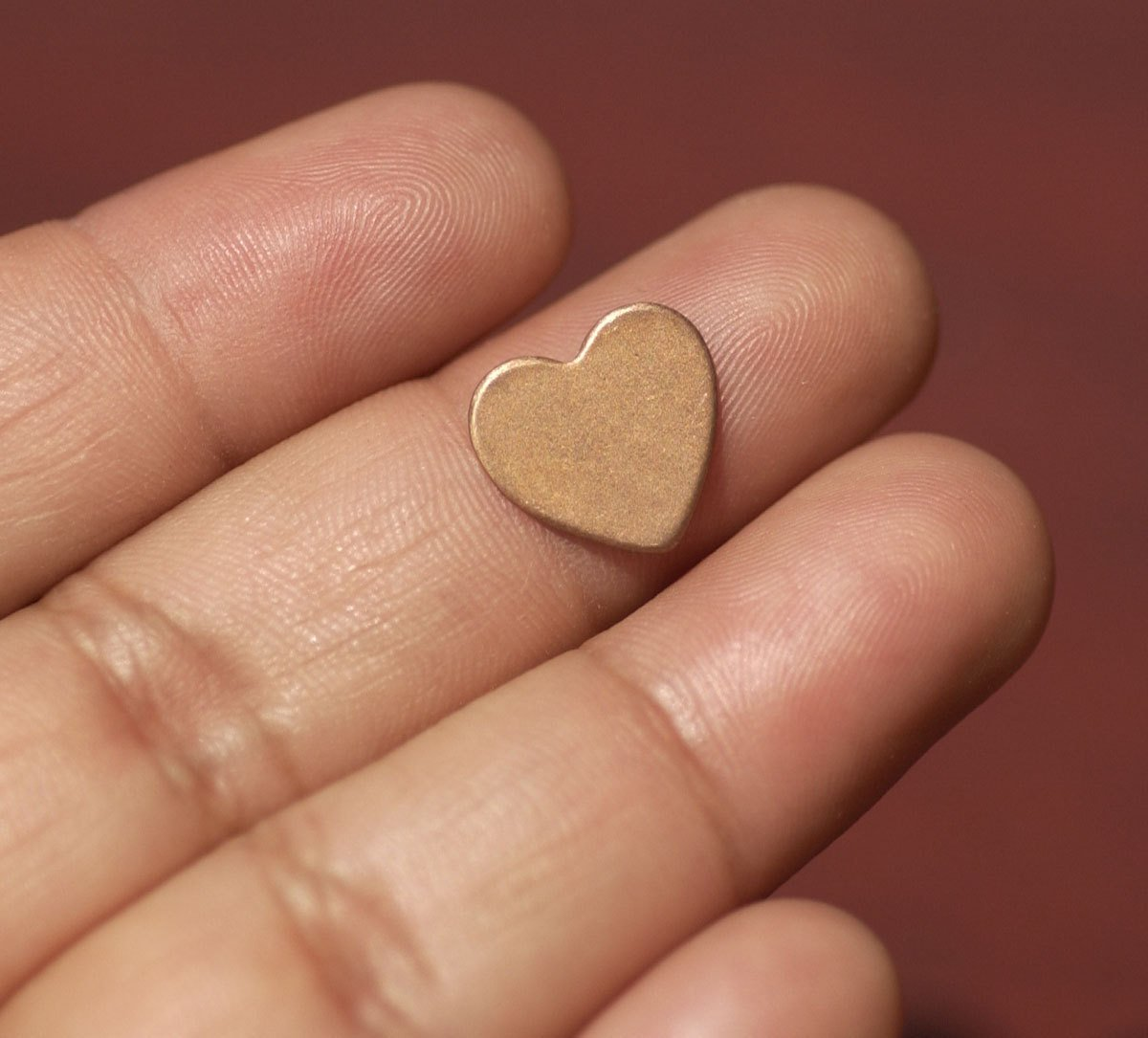 Copper Heart Blank Tiny Classic 13mm x 12mm 24G Cutout for Enameling Stamping Texturing - Jewelry Supplies - 8 pieces