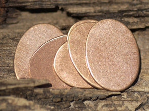 Copper Blank 21mm x 16mm 24g Oval Shape for Blanks Enameling Stamping Texturing