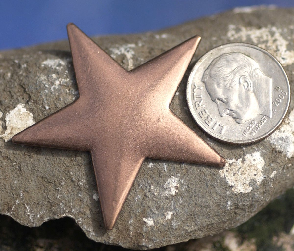 Copper Star Blank 20g 36mm for Enameling Stamping Texturing Soldering Pendant Jewelry Making