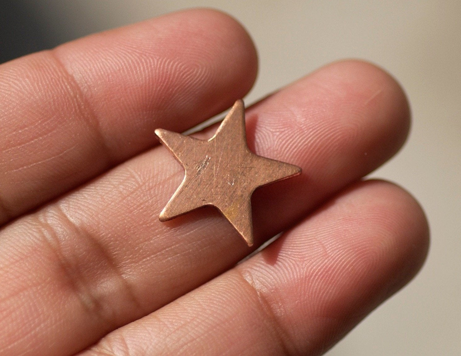 Stars 17mm Antique hammered Cutout for Enameling Stamping Texturing Soldering Blanks - Variety of Metals 6 Pieces