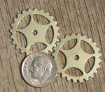 Buy Brass 25mm Gear Cog Blank Cutout for Metalworking Stamping Texturing Soldering Blanks online