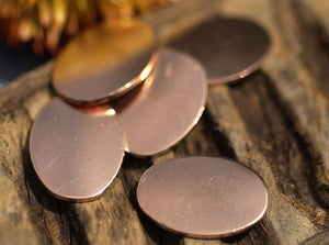Copper Oval 18mm x 13mm  for Enameling Stamping Texturing Soldering Blanks