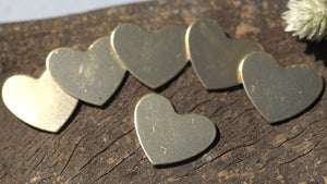 Bronze Blank Heart Classic Shape 18mm x 15mm 20g Cutout for Blanks Metalworking Stamping Texturing
