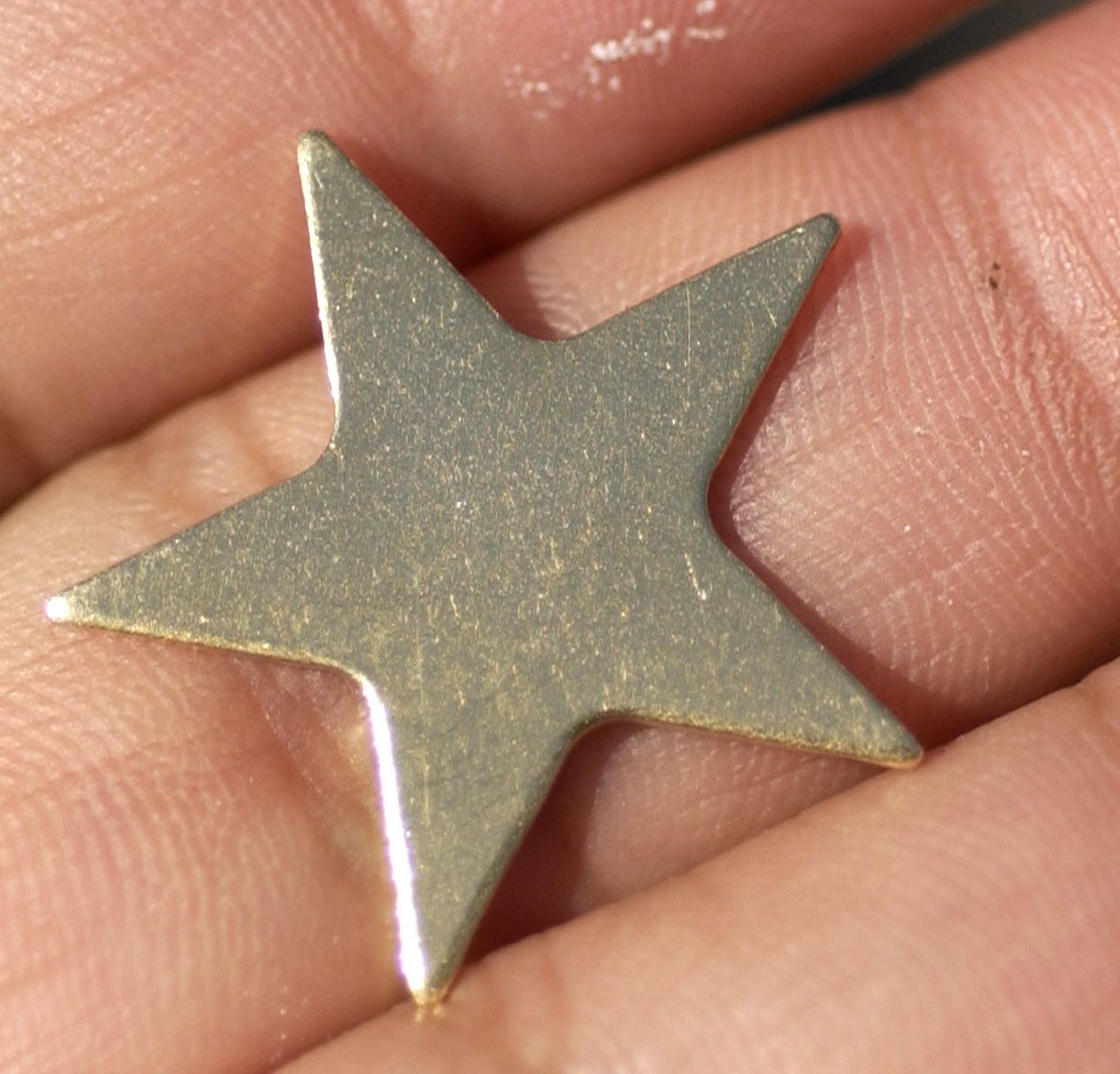 Brass Star 20g Blank Cutout for Metalworking Stamping Texturing Soldering Blanks - 6 pieces