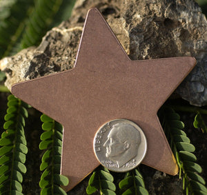 Copper Large Star 20g 62mm Cutout for Enameling Stamping Texturing Soldering Blanks - 2 pieces