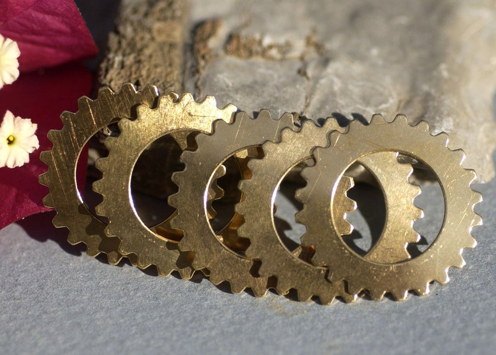 Gear Cog 25mm with 15mm Cutout Cut Out for Stamping Texturing Variety of Metals,