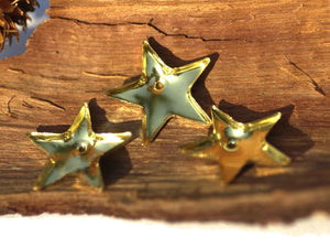 Bezel Cups - Blanks Bright Star 30g 17.6 OD, 1.5mm tall for Resin, Epoxy soldering Jewelry Making Blank - 4 pieces