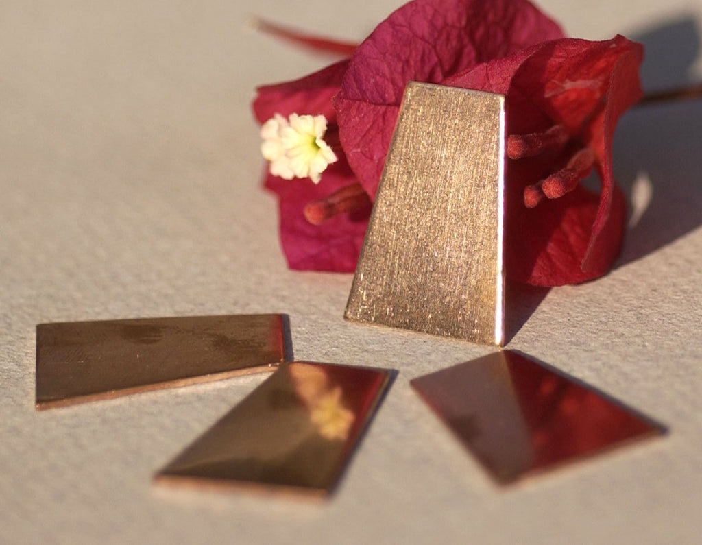 Copper Trapezoid 22g 25mm x 18mm Blanks Cutout for Enameling Stamping Texturing Soldering for Pendant Jewelry Making