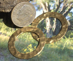 Brass Hammered Donut Round Blank 25mm Cutout, Metalworking Supplies, Metal Charm - 6 Pieces