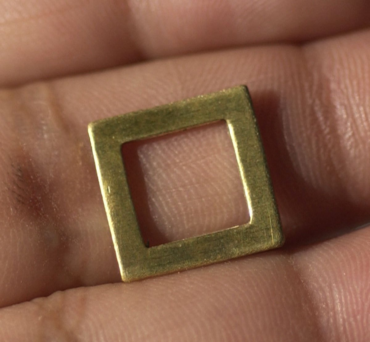 Brass 24g 13mm Square Blank Cutout for Enameling Stamping Texturing Blanks - 4 pieces