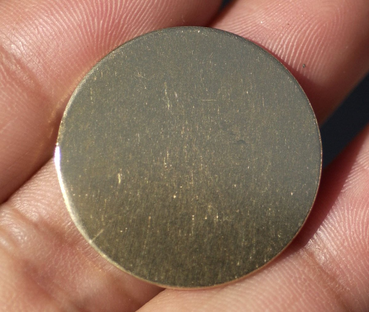 Bronze 25mm Disc Blank 20G Enameling Soldering Stamping Texturing Metalworking Blanks - 6 Pieces