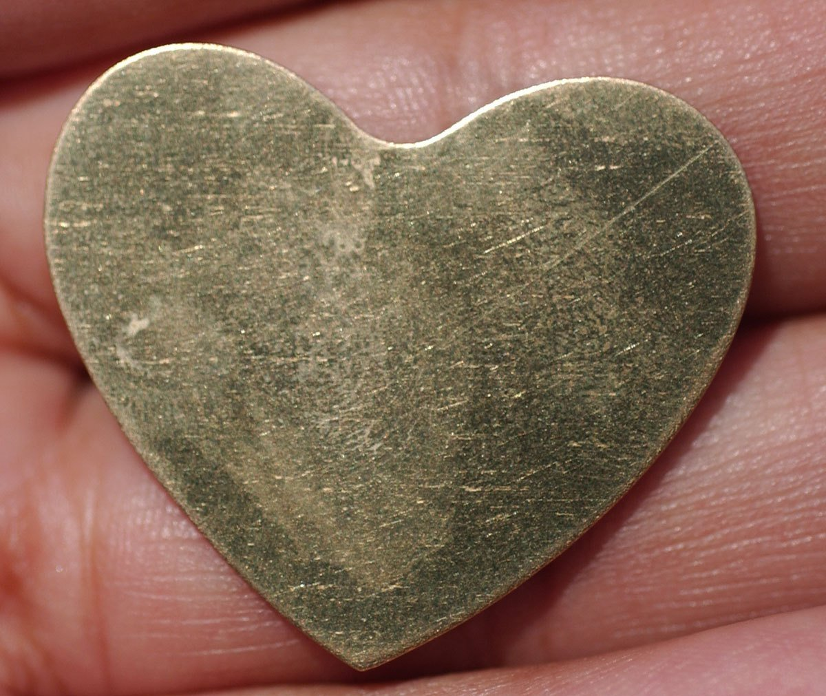 Brass Heart Classic 30mm x 33mm 24g Blanks Shape Cutout for Enameling Stamping Texturing