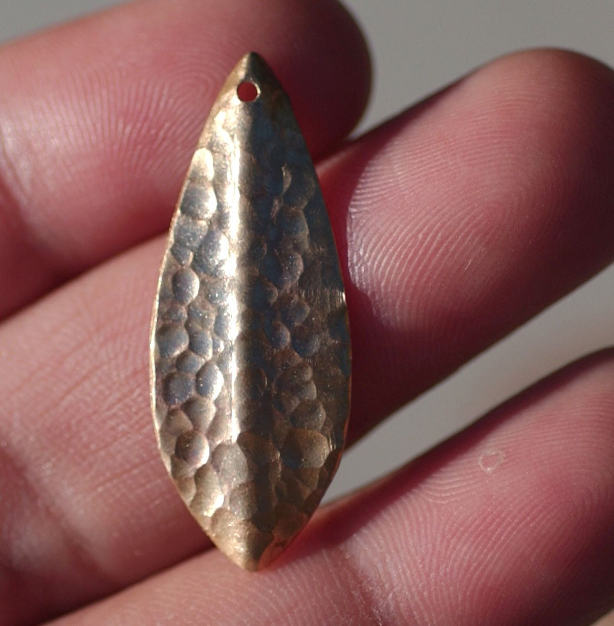 Bronze Blanks Shapes - Woodgrain Textured Leaf - Leaves - Tree Fall Greenery Leaf 3D 30mm x 12mm shape Blank