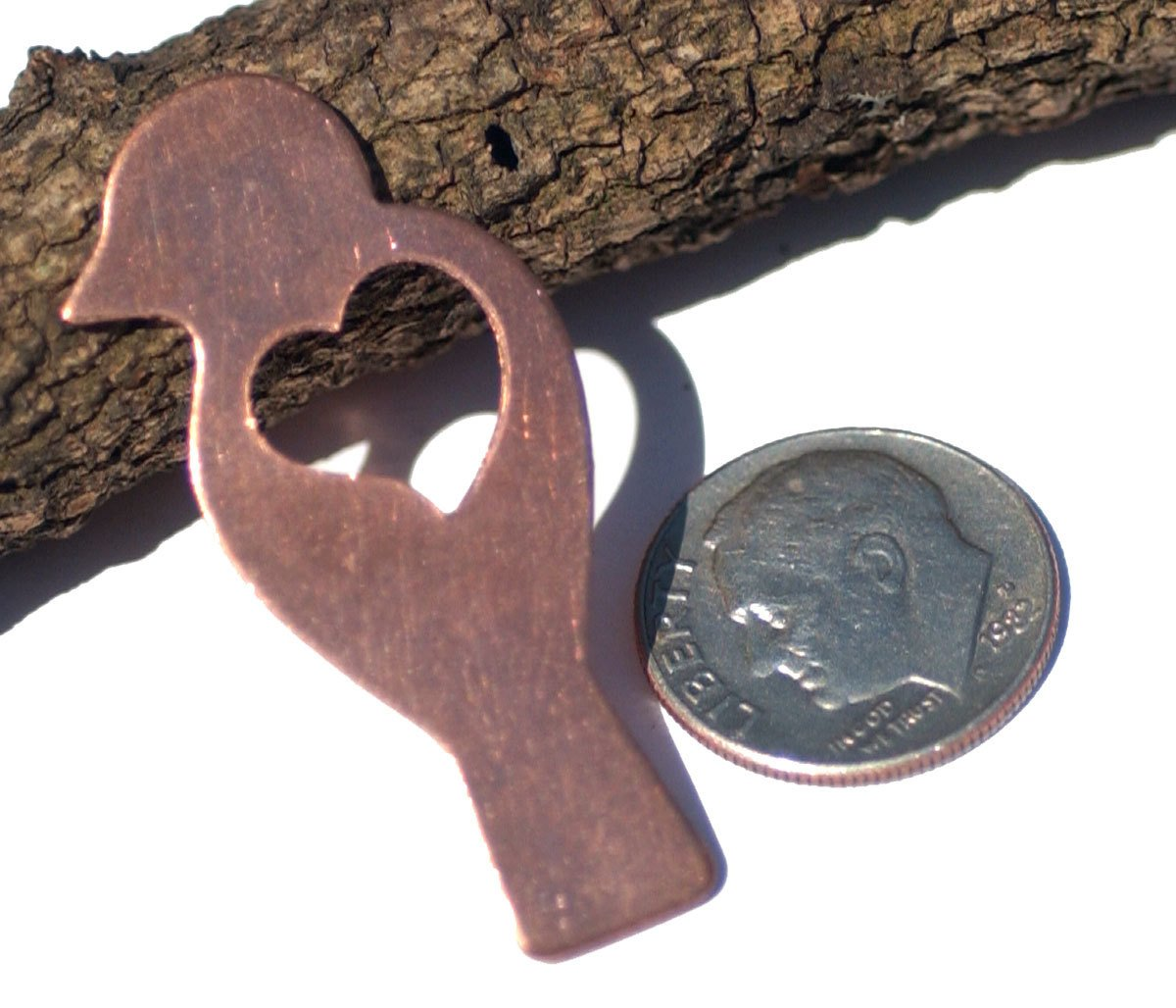 Copper Heart Wing Bird 22g for Blanks Metalworking Enameling Stamping Texturing
