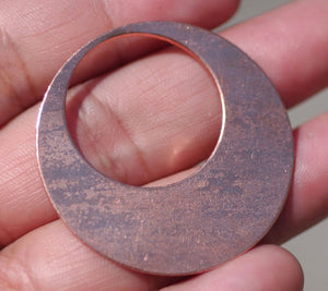 Buy Copper Blank Hoops 38mm 24g for Earrings or Pendant Offset Circle for Enameling Stamping Texturing Blanks online