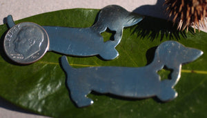 "Nickel Silver Blank Dachshund Doxie ""Star"" Dog Blanks for Stamping Texturing Metalworking"