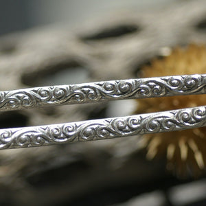Buy Sterling Silver Ring making wire, gallery wire for soldering bracelets, 2.6mm wide Curls online