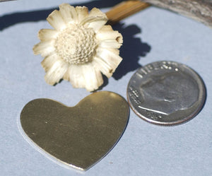 Buy Heart shapes metal blanks 20mm x 25mm 24g 22g 20g love hearts for making jewelry online