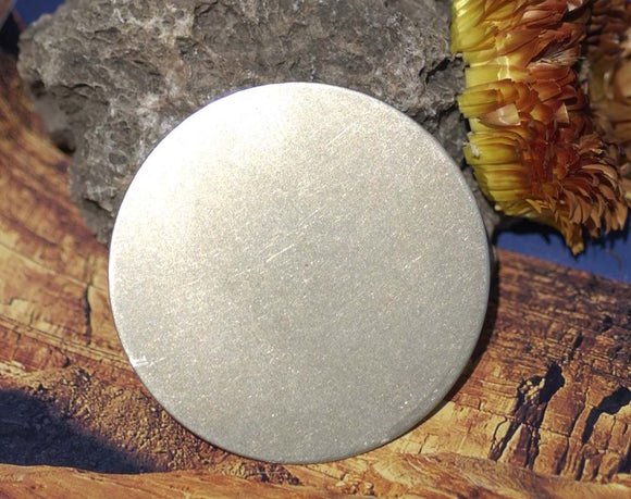 Nickel Silver 50mm Blank Disc Round Circle Metal Jewelry Supplies 20G - 2 Pieces