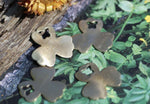 Nickel Silver Clover Flower with Butterfly Blank for Metalworking Stamping Texturing Blanks Soldering - 6 pieces
