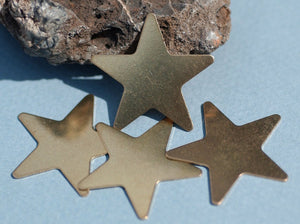 Brass or Bronze Star 30mm 24g Blanks for Metalworking Soldering Stamping Texturing Blank