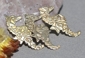 Bronze Seahorse Lotus Flowers 20g Textured Blanks Metalworking Stamping Texturing Jewelry Making Blank