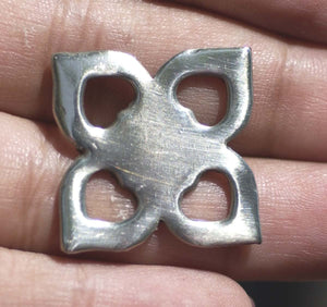 Nickel Silver Blanks Heart Flower 23mm Cutout for Metalworking Soldering Stamping Blank