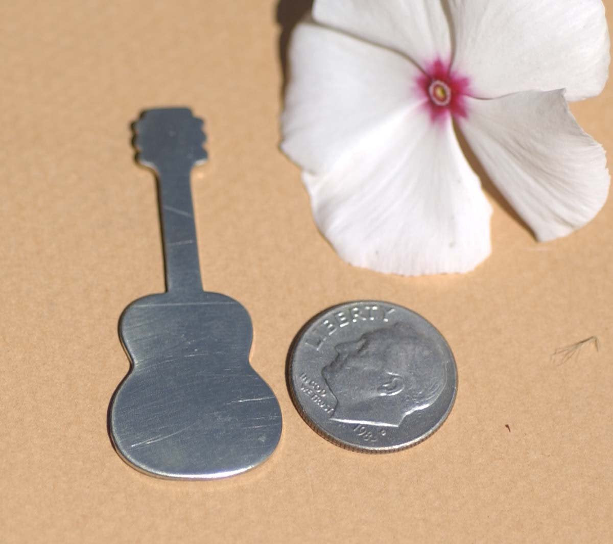 Nickel Silver Guitar Blank Cutout for Stamping Texturing Jewelry Making Blanks