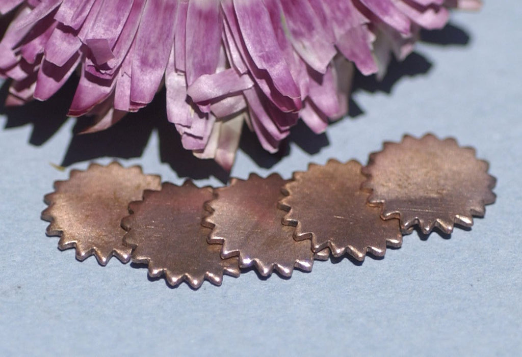 Copper 12mm Blank Gear Cog Cutout Cutout for Enameling Stamping  Blanks Texturing