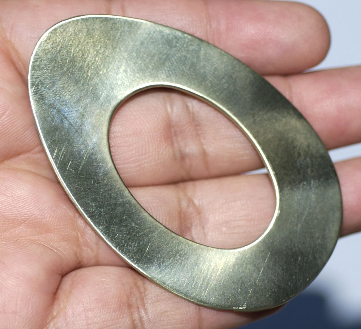 Donut Oval Blank 65mm x 41mm 24g Washer Polished Textured Blanks Shape, Variety of Metals,
