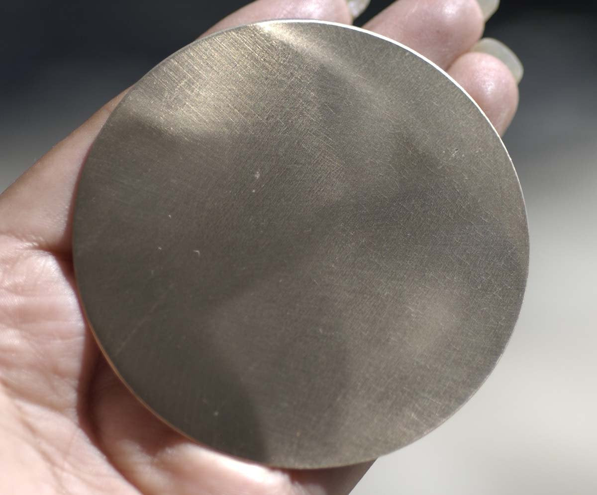 Bronze Blank 70mm Disc 20G Cutout for Soldering Stamping Texturing Enameling, Metal Supplies - 1 Piece