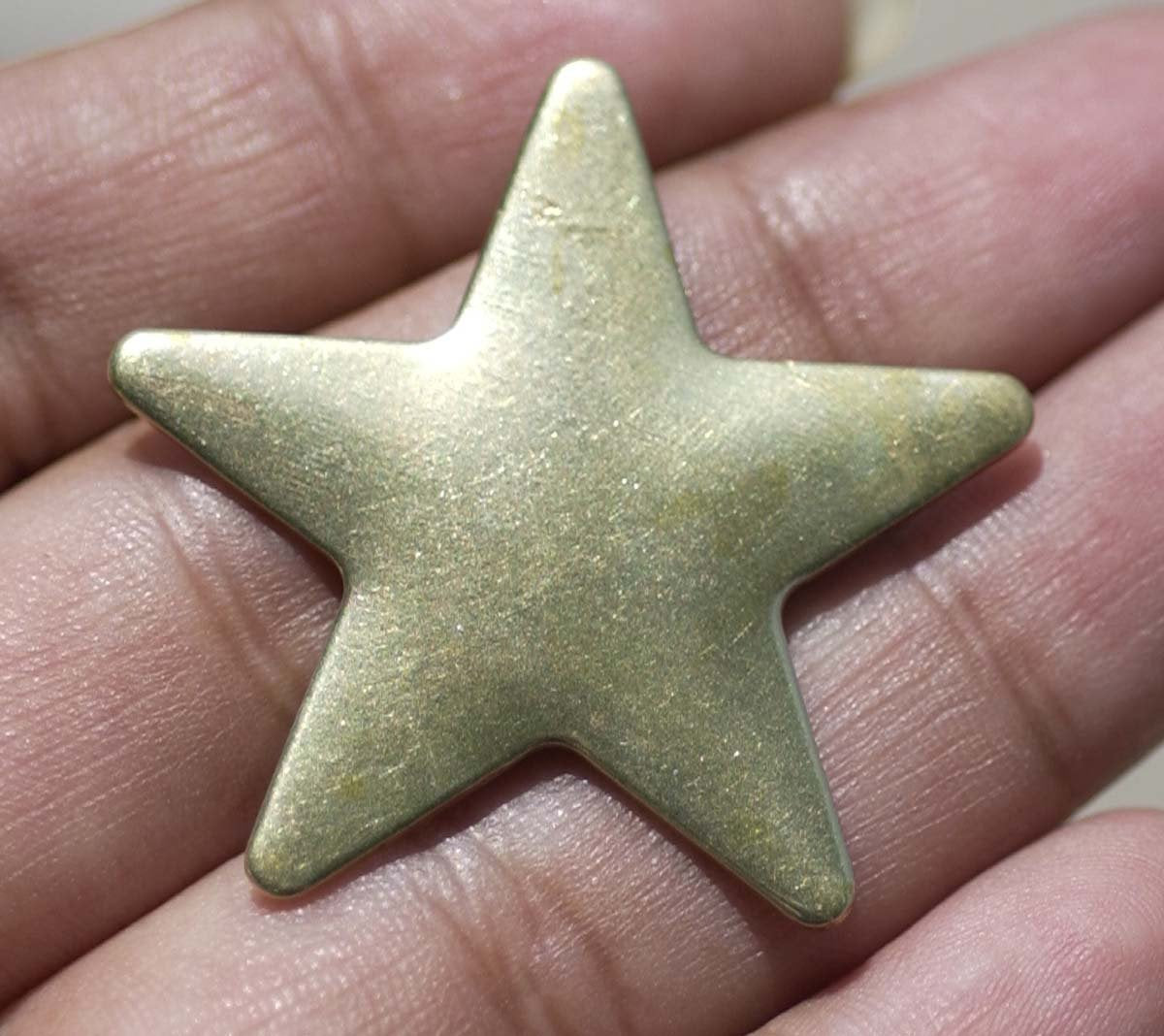 Brass Star Blank 20g 36mm Metalworking Cutout Blanks Figure for Soldering Stamping Texturing
