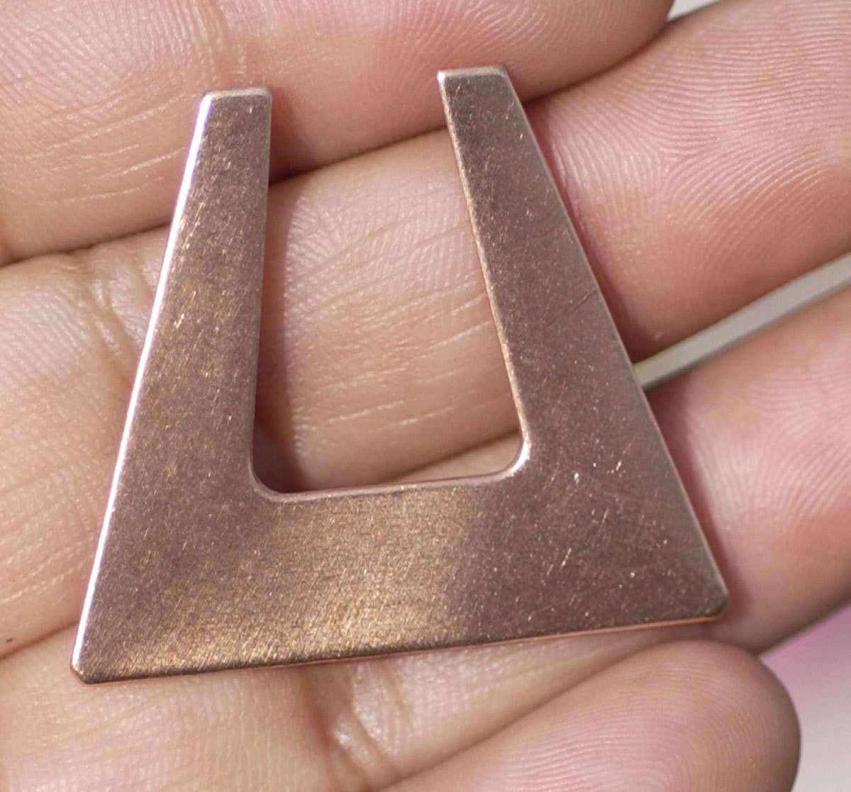 Copper Blank Hoops 28mm x 32mm 24g for Earrings or Pendant Square for Enameling Stamping Texturing Blanks