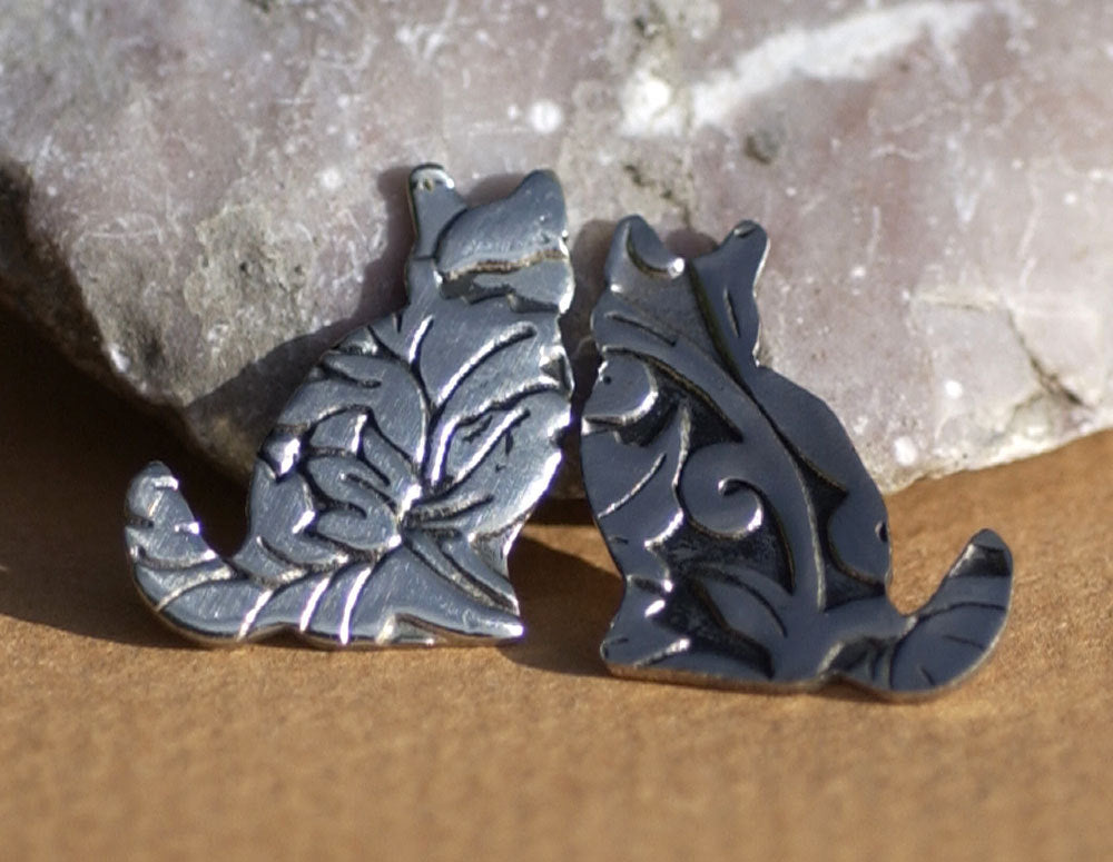 Nickel Silver Blank Cats Lotus Flower Textured for Metalworking Soldering Stamping Texturing Blanks