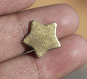 14.5mm Brass Chubby Star Blanks Cutout for Metalworking Stamping Texturing Charm - Jewelry Supplies