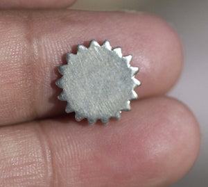 Nickel Silver 12mm Blank Gear Cog Cutout Cutout for Metalworking Stamping Texturing Blanks - 8 pieces