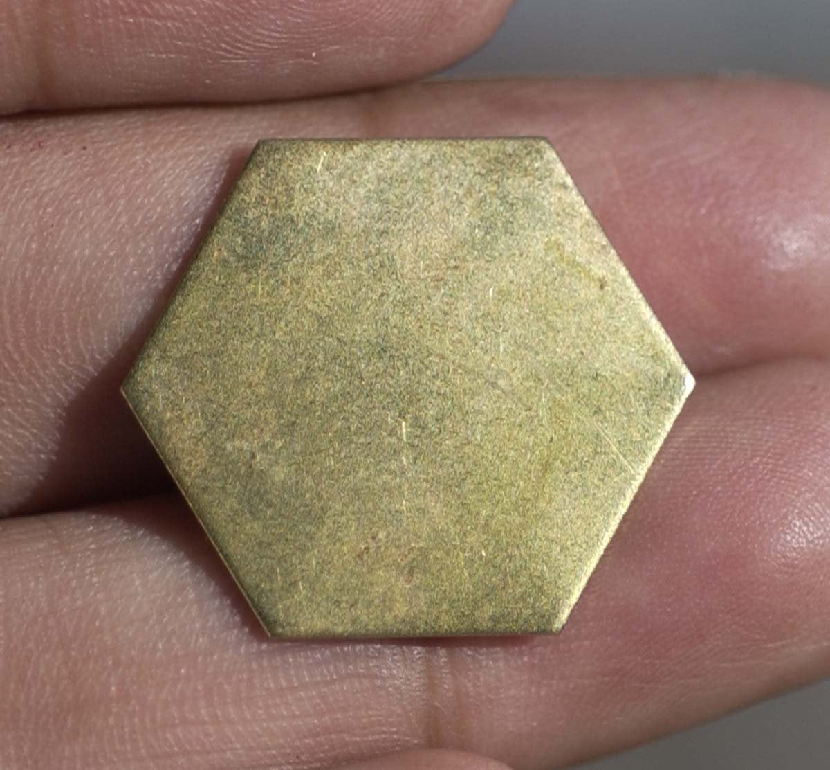 Brass Hexagon  20g 20mm Blank Cutout for Metalworking Soldering Stamping Texturing Blanks