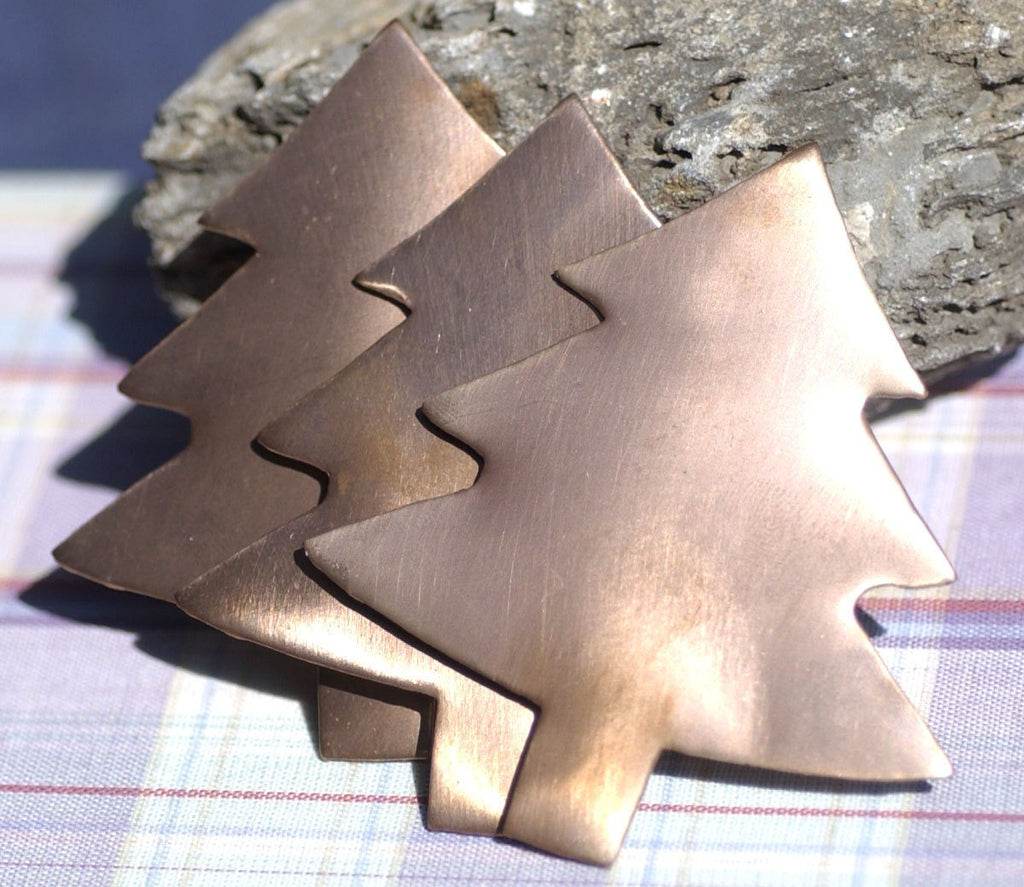 Copper Large Christmas Tree Blank 62mm x 57mm Metal Blanks Shape Form