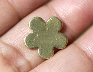 Brass Blank Charm Flower 14mm for Metalworking Stamping Texturing Blanks