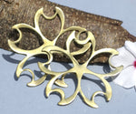 Dogwood Flower Petal Cutout Blank 60mm for Metalworking Soldering Stamping Blanks