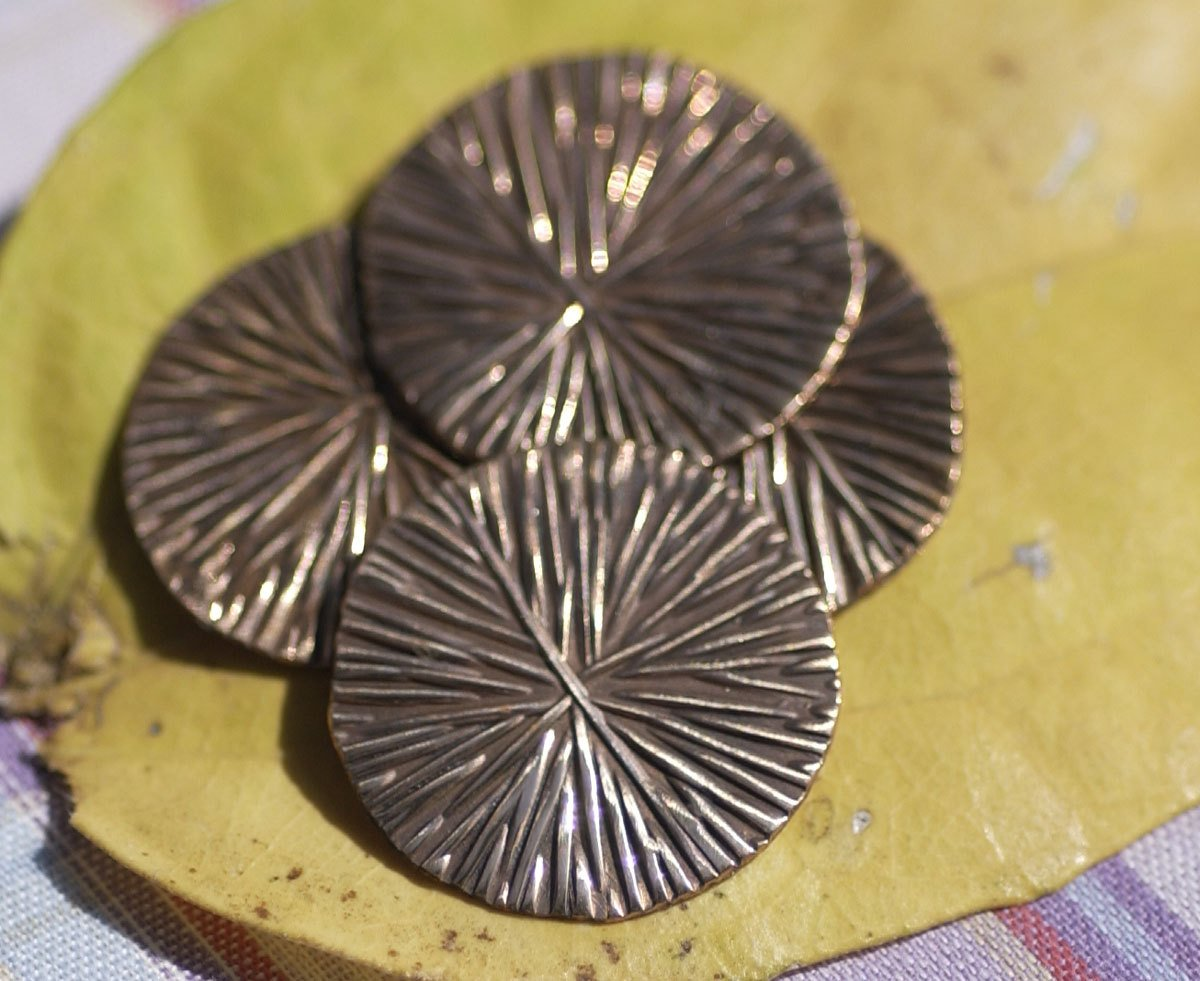 Enameling Blank Copper 20mm 24G Disc, Metalworking Supply - Handmade - 6 Pieces