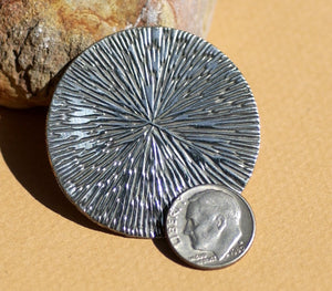 Nickel Silver 42mm Metal Blank 24G, Jewelry Pendant Blank, Metalworking Supplies - 3 Pieces